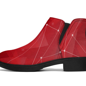 Women Abstract Geometric Fashion Boots - Joy's Beauty Store