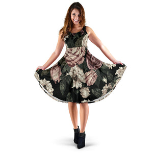 Women's Elegant Flower Dress - Joy's Beauty Store