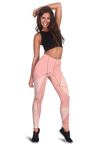 Women's Rose Gold Mosaic Workout Leggings - Joy's Beauty Store
