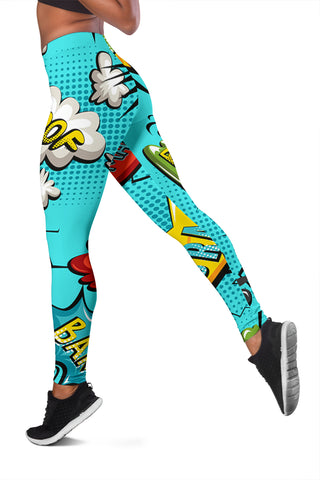 Women's Awesome Comic Style Leggings - Joy's Beauty Store