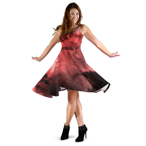 Women's Beautiful Watercolor Dress - Joy's Beauty Store