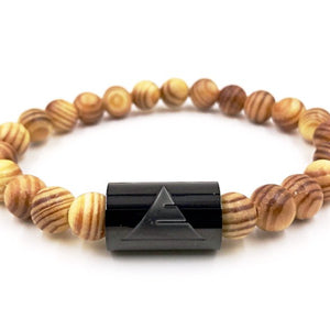 Black Timber Tiger Skin Kingwood Bracelet - Joy's Beauty Store