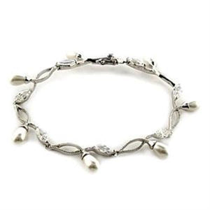 LOA542 Rhodium 925 Sterling Silver Bracelet - Joy's Beauty Store