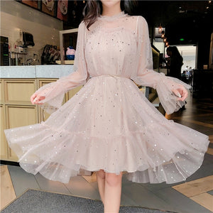 Elegant Sequined Kimono Style Dress - Joy's Beauty Store