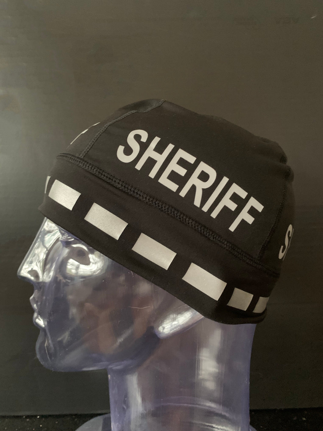 "The Police Beanie - Black ""SHERIFF"""