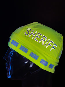 "The Police Beanie- Neon ""SHERIFF"""