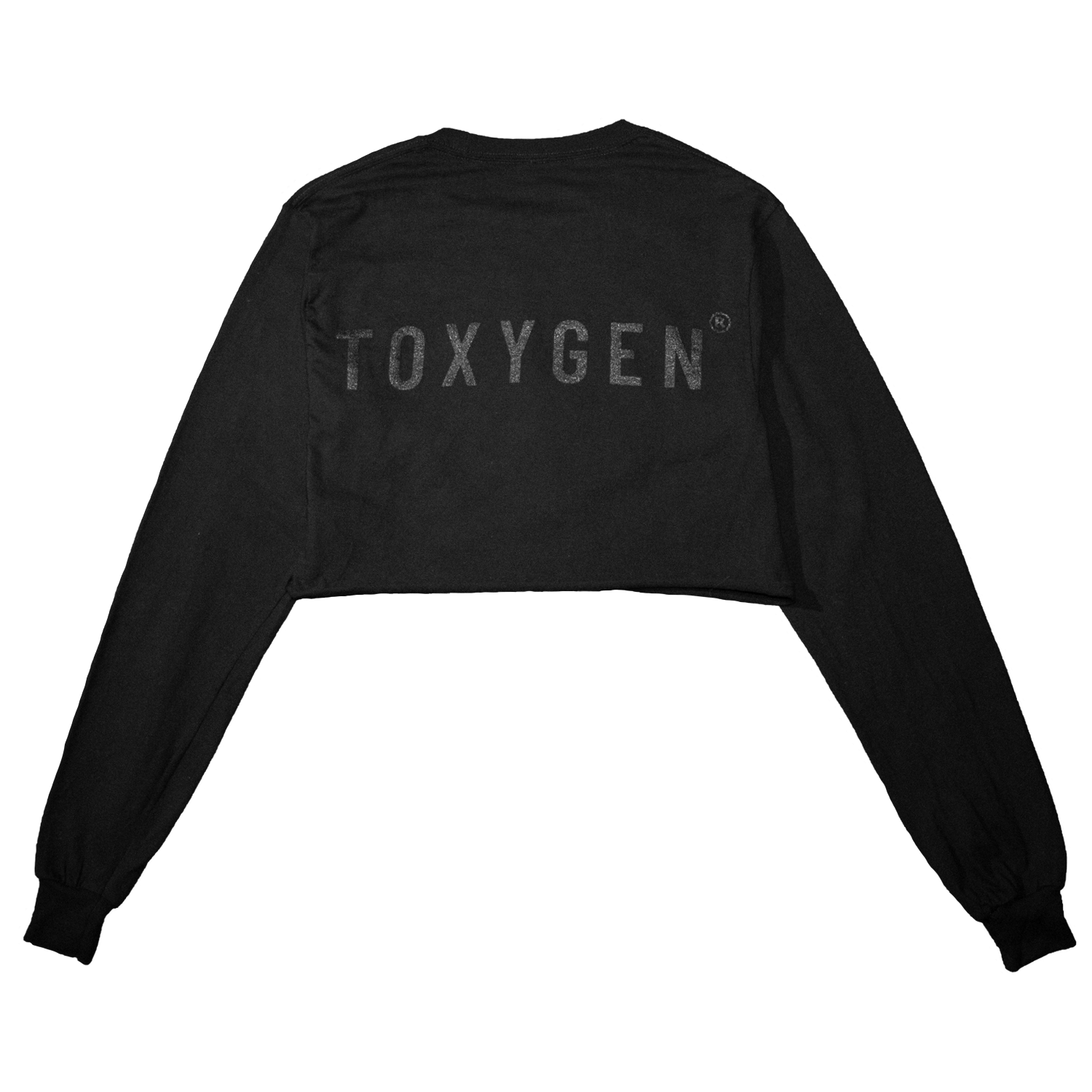 Black Toxygen Crop Top