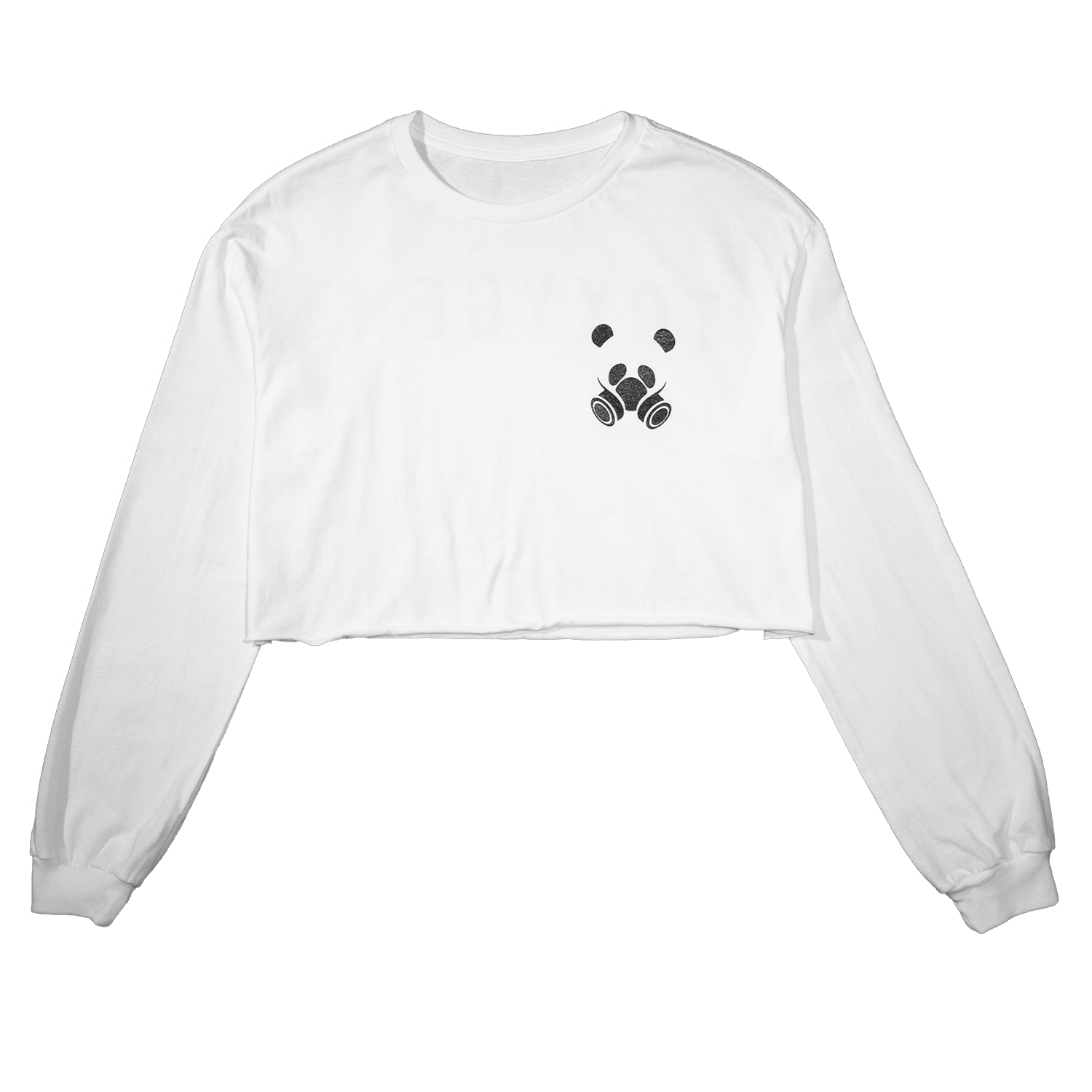 White Toxygen Crop Top