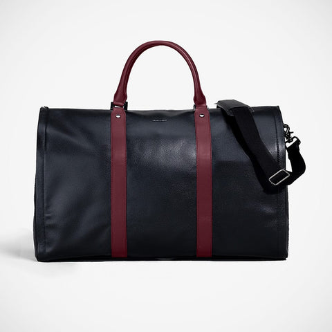 Weekender - Black Pebble with Burgundy'