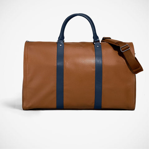 Weekender - 'Cognac with Navy'