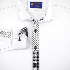 'Elite Platinum Patchwork' Sport Shirt