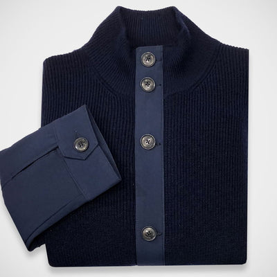 '2-Pocket-Navy' Sweater Jacket