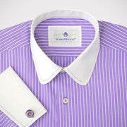 H. Halpern Esq. 'Purple Martin' Dress Shirt shoulders