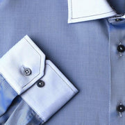 Blue tonal dress shirt cuff