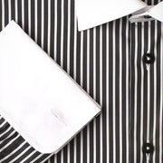 H. Halpern Esq. 'Charcoal Stripes' Dress Shirt