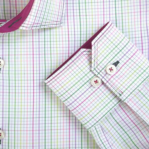 H. Halpern Esq. 'Spring Check' Dress Shirt cuff
