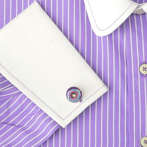 H. Halpern Esq. 'Purple Martin' Dress Shirt cuff