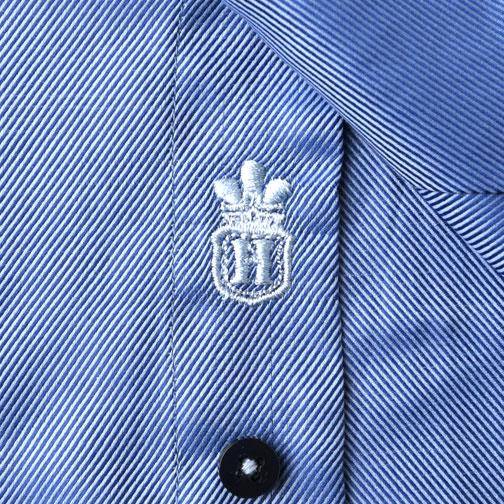 Blue tonal dress shirt logo