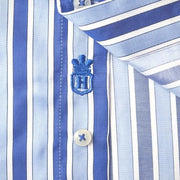 H. Halpern Esq. 'Bold Blue Stripes' Dress Shirt logo