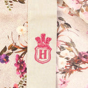 H. Halpern Esq. 'Fuschia Floral on Tan' Shirt logo