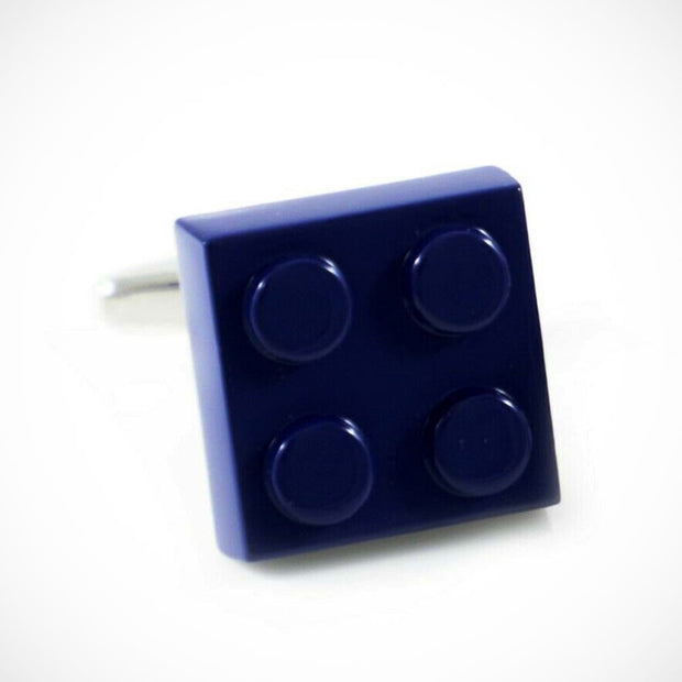 'Blue Lego Square' Cufflinks