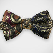 'Large Multi-Coloured Paisley' Pre-Tied Woven Bow Tie