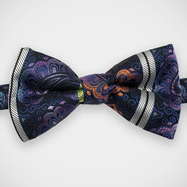 'Purple & Blue Woven Paisley' Pre-Tied Bow Tie