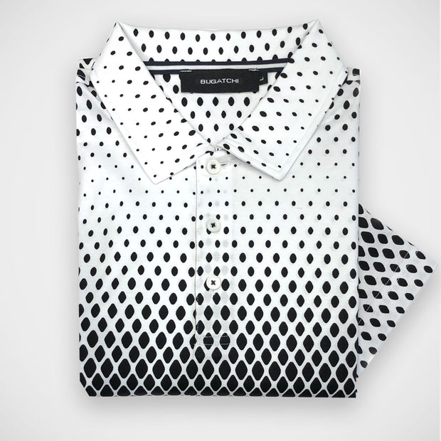 'Black Dots on White' Short Sleeved Sport Shirt