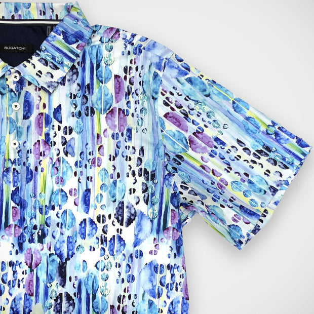 'Watercolours' Short Sleeved Knit Sport Shirt