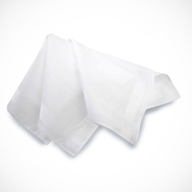 'White Cotton 3-Pack' Handkerchiefs