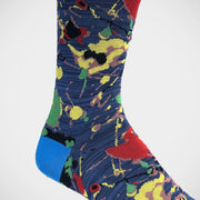 'Paint Splatter on Denim' Socks