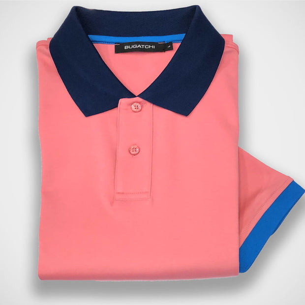 'Pink Polo' Short Sleeved Knit Sport Shirt