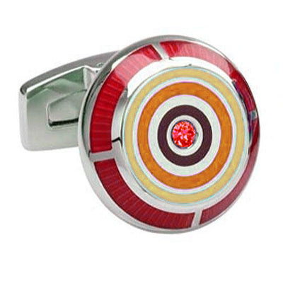'Red Bull's eye' Cufflinks