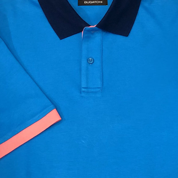 'Turquoise Polo' Short Sleeved Knit Sport Shirt