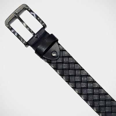 'Navy Basketweave' Belt