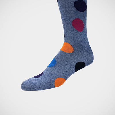 'Big Dots on Blue' Socks