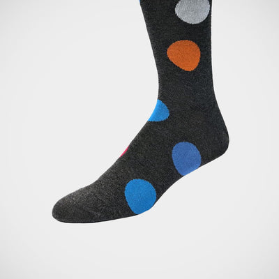 'Big Dots on Grey' Socks