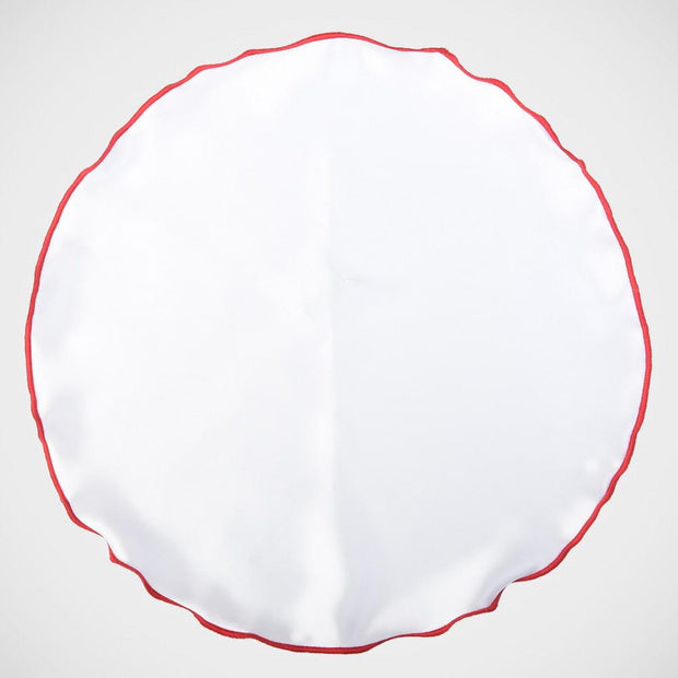 H. Halpern Esq. 'White with Red Trim' Pocket Circle