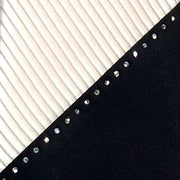 Vitaliano Pancaldi 'Swarovski Crystal & White Pleats' Tie detail