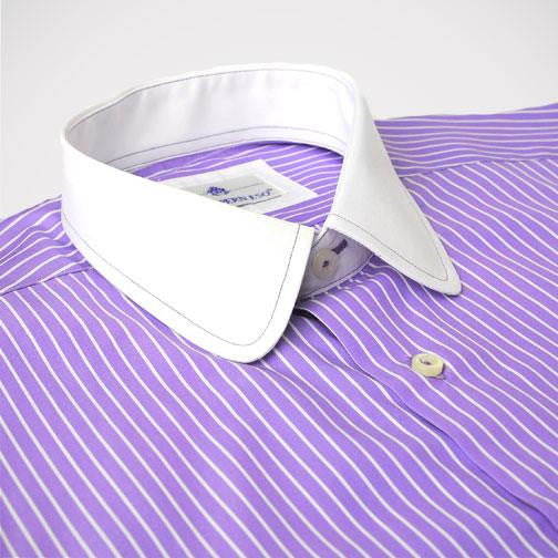 H. Halpern Esq. 'Purple Martin' Dress Shirt collar