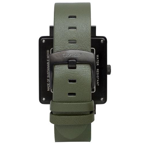 Tense 'Vermont - Green & Brown' Hybrid Watch back
