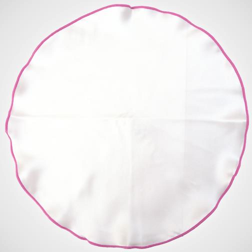 H. Halpern Esq. 'White with Fuchsia Trim' Pocket Circle