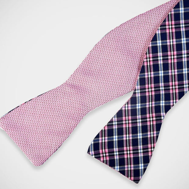 H. Halpern Esq. 'Blue & Pink Plaid' Reversible Bow Tie