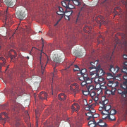'Fall Floral in Burgundy' Tie