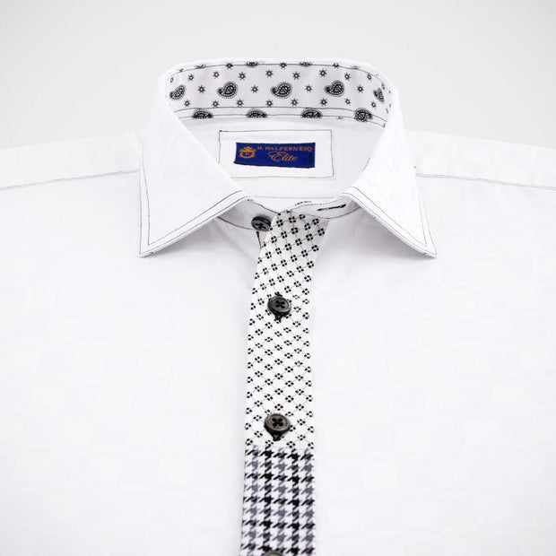 'Elite Platinum Patchwork' Limited Edition Sport Shirt