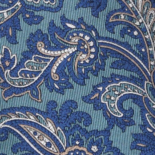 H. Halpern Esq. 'Teal and Blue Paisley' Tie