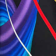 Vitaliano 'Ribbons of Colour on Black' Tie