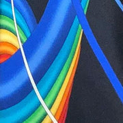 Vitaliano 'Ribbons of Colour on Navy' Tie.
