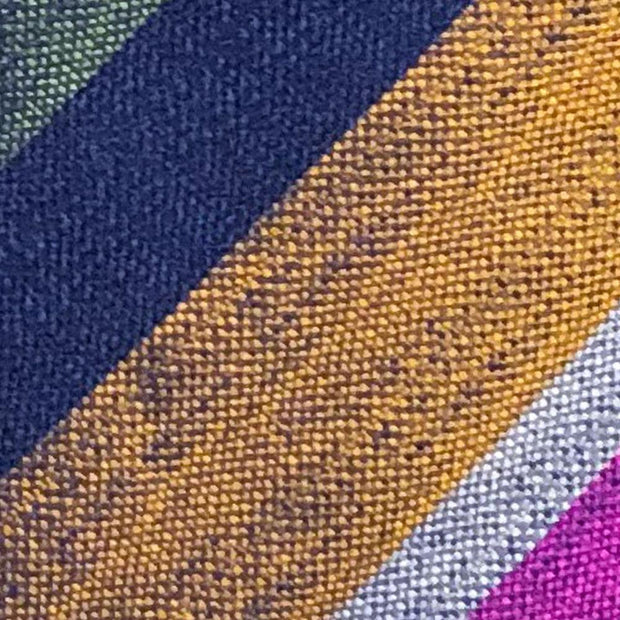 H. Halpern Esq. 'Bold Stripe in Pink, Green, Blue & Gold' Tie