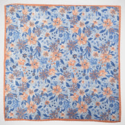 H. Halpern Esq. 'Blue & Orange Floral Reversible' Pocket Square.